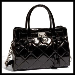 NEW! Michael Kors Hamilton Quilted Leather Satchel